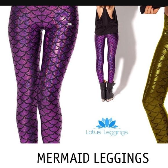 7fdcb3dfe20 lotus leggings Pants - Purple shimmer mermaid leggings XL 14 16 NWOT